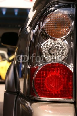 Wallmonkeys Peel and Stick Wall Decals - Car Hedlight Close-up. Turn, Stop and Reverse Signals. - 24