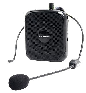 Unizone Uz-9088 Portable Rechargeable Voice Amplifier Public Address (Pa) Microphone & Speaker - Black