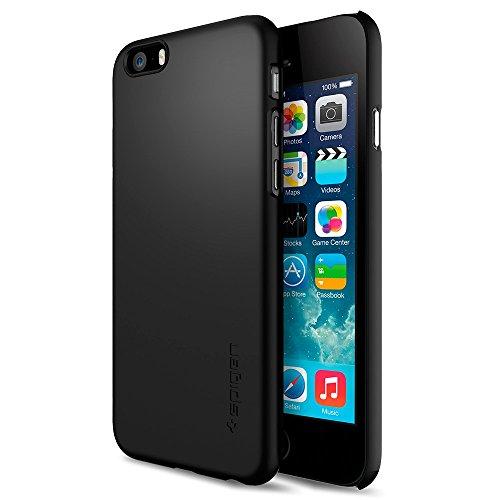 iPhone 6 ケース, Spigen® [パーフェクト-フィット] シン ・フィット The New iPhone アイフォン6 (2014) (国内正規品) (スムース・ブラック SGP10936)