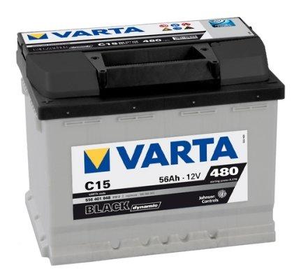 VARTA BLACK DYNAMIC AUTOBATTERIE C15 12V 56AH