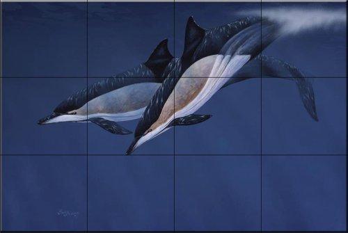 dauphins-communs-par-barry-ingham-carrelage-mural-pour-cuisine-dosseret-salle-de-bain-carrelage-mura