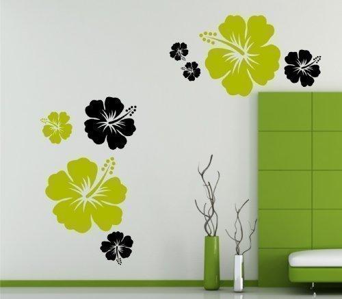 set-stickers-muraux-motif-hibiscus-forme-et-couleur-au-choix-a-indiquer-par-e-mail