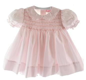Amazon Petit Ami Infant Baby Girls Pink Smocked Dress