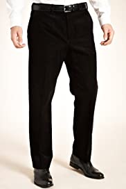 Winter Weight Cotton Rich Flat Front Corduroy Trousers [T18-7477-S]