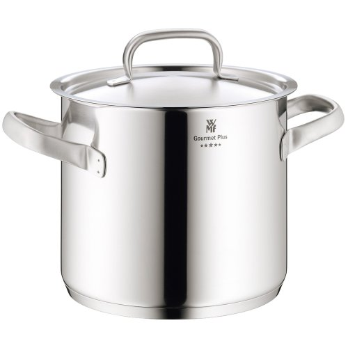WMF Gourmet Plus 18/10 stainless steel stock pot with lid 20cm/5.3ltr