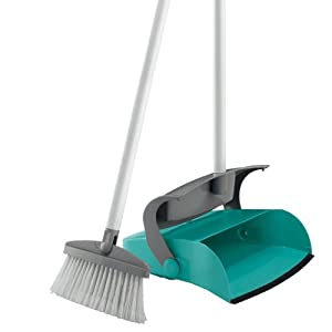 Leifheit Long Handled Dust Pan And Brush Set Amazon Co Uk