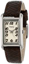 Caravelle by Bulova Womens 43L114 Creme Dial Leather Strap Watch