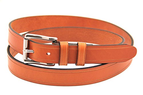 Orion Leather 1 1/4 Bridle London Tan Leather Belt With Saddle Groove Size 34
