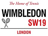 WIMBLEDON THE HOME OF TENNIS SW19 LONDON STREET SIGN METAL STEEL ADVERTISING WALL SIGN