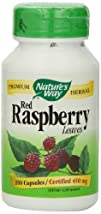 Natures Way Red Raspberry Leaves  450 mg 100 Capsules