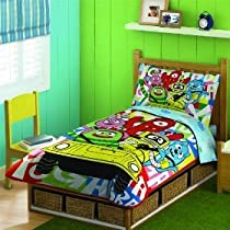 Hot Sale YO GABBA GABBA BEDDING SET TODDLER 4 PIECE INFANT CRIB BOYS