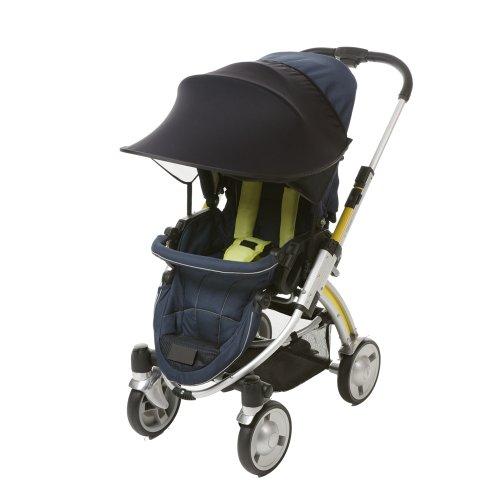 Manito-New-Sunshade-Sonnenschirm-fr-Kinderwagen-Sportkinderwagen-und-Autositz-Weitsonnenschutz-UV-Cut-Universal-und-einfache-Installation-Black