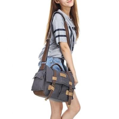 ACOSUN BBK-3 Canvas DSLR Camera Bag Shoulder Messenger Bag for Canon Sony Nikon Pentax Olympus