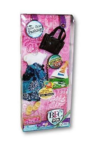 BFC INK B.F.C. Ink. Doll Fashion Boho Chic Dress Purse Shoes (Bfc Ink Clothes compare prices)