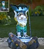 Mains Powered Indoor & Outdoor Garden Gnome Fountain with LED Lights