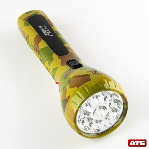 Led Army Camo Flash Light , Rechargeable High Powered Outdoor Flash Light, Military Utility Light .