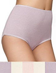 5 Pack Cotton Rich Assorted Full Briefs
