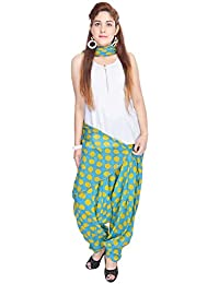Kismat Collection Women's Pure Cotton Printed Patiala & Duppta Sets (Free Size) - B01L6SFINI