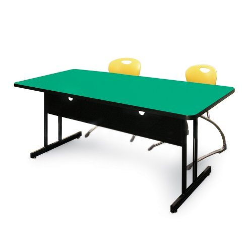 Buy Low Price Comfortable 24 x 60 Computer Table Workstation-29″H-Green (Green) (29″H x 24″W x 60″D) (B000R32MWY)