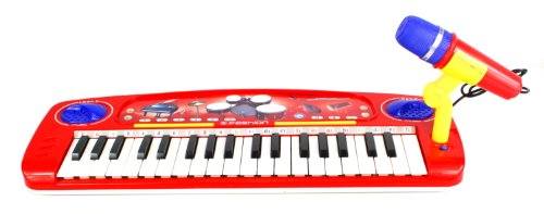 Lezile Fashion Electronic Kid'S 37 Keys Toy Piano Keyboard Set W/ Microphone, Records And Plays Back Your Child'S Music, Preloaded W/ Rhythms, Drums, Mandolin, Flute, Xylophone Sounds (Colors May Vary)