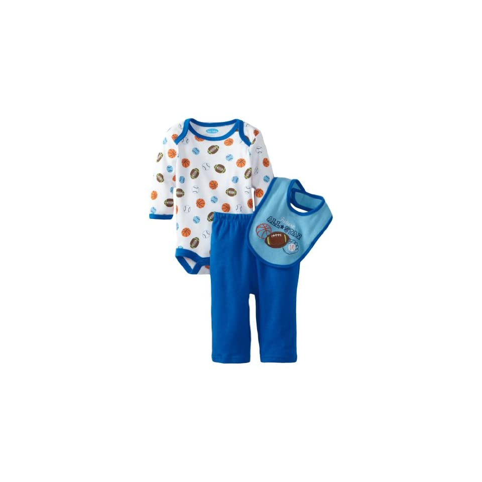 Bon Bebe Baby boys Newborn Happy Monkey 3 Piece Pant Set, Multi, 0 3 Months