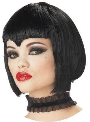 Va Va Vamp Black Wig Costume Accessory