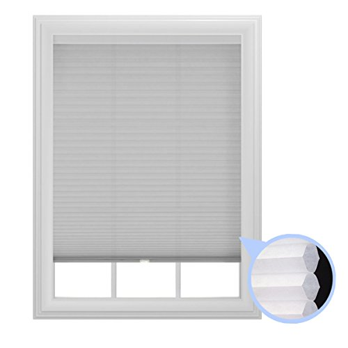 "9/16"" Trimmable Cordless Cellular Light Filtering Window Shade, 36-Inches by 64-Inches"