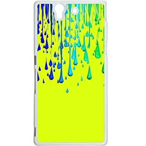 Casotec Neon Paint Print Design Hard Back Case Cover for Sony Xperia Z