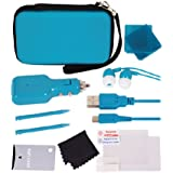 Crown Deluxe 12-in-1 Accessory Pack: Blue (Nintendo 3DS)