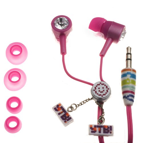 NEMO DIGITAL ICF10152PK iCarly iGlam Earbuds with Clear Crystal Studs Style (Discontinued by Manufacturer) - 1