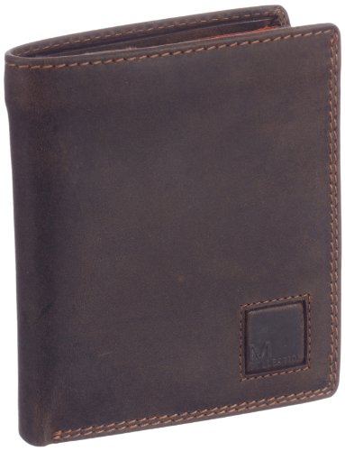 M-Collection Unisex - Adult Mingles Wallets Brown Braun (dark brown 702) Size: 11x12x1 cm (B x H x T)