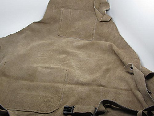 3 Pocket Suede Leather Wood Carvers Workers Chasers Gunsmith Tool Apron RAMELSON