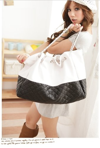Ginkgo Brand New Korean Lady Hobo Tote PU leather handbag shoulder bag For Woman Black