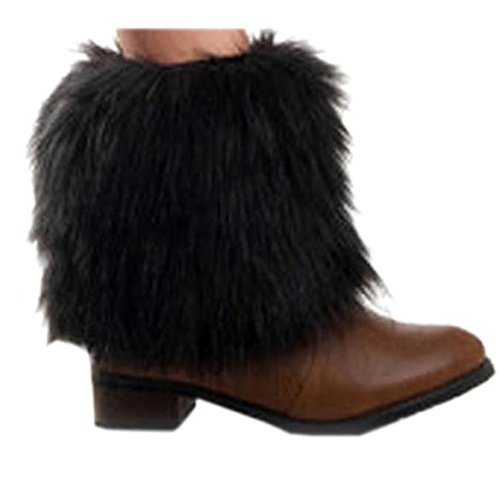 Zeagoo Womens Hot Sale 1 Pair 15cm Faux Fur Lower Leg Shoes Ankle Boots Cover