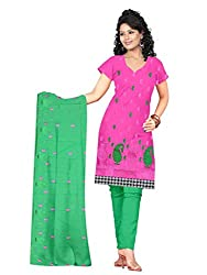Shree Vardhman Pink Cotton Straight unstitched salwar suit (SEJAL08)