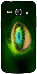 Snoogg Clock In A Green Eye 2605 Hard Back Case Cover Shield For Samsung Gala...