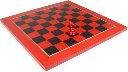 Red & Black Deluxe Chess Board - 2 3/8