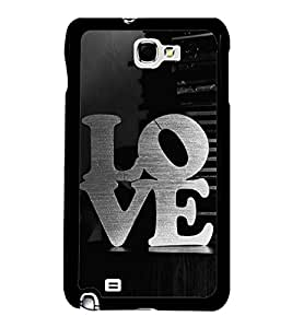 Printvisa Ultra Love 2D Hard Polycarbonate Designer Back Case Cover for Samsung Galaxy Note N...