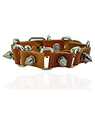 "ALPHA MAN ""A Terror-ific Time "" Brown Thread-Woven Faux Leather Bracelet"