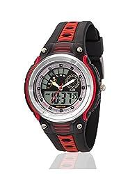 Yepme Mans Analog Digital Watch - Black/Red