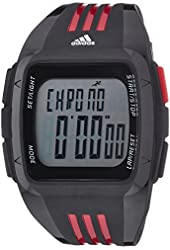 adidas Unisex ADP6097 Digital Black Watch with Red Accents