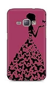 AMEZ designer printed 3d premium high quality back case cover for Samsung Galaxy J1 2016 SM-J120F (darkest pink princess)