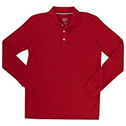 French Toast Long Sleeve Pique Polo Boys Red 8