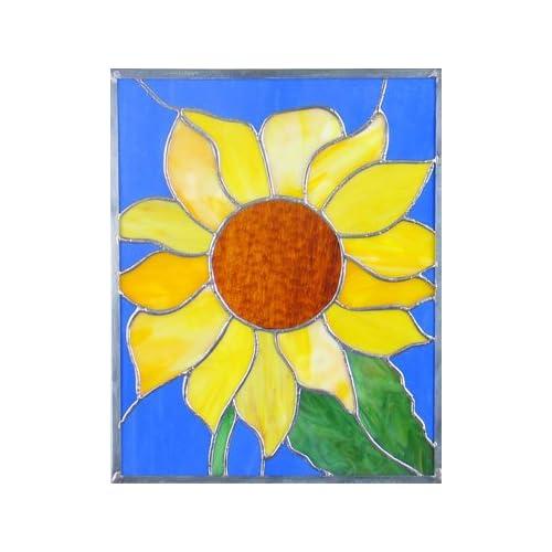 ".com: Vicki Payne's Signature Pre-Cut Kit ""Sunflower"" Stained Glass"