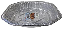 Durable Packaging PRM401 Oval Aluminum Roasting Pan, X-Large, 17-3/8\