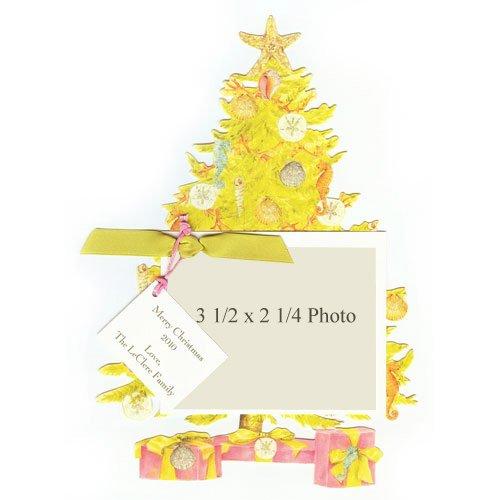 Seashell Christmas Tree Die-Cut Card, Pack Of 10 front-947427
