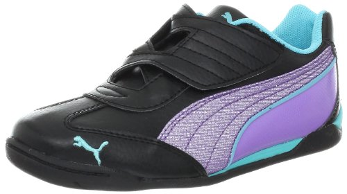 PUMA Delor Cat Glamm SL V Fashion Sneaker (Infant/Toddler/Little Kid/Big Kid),Black/Bougainvillea Purple/Blu,8 M US Toddler