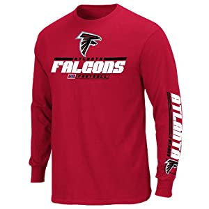 Atlanta Falcons Mens Primary Receiver IV Long Sleeve T-Shirt by Majestic by VF