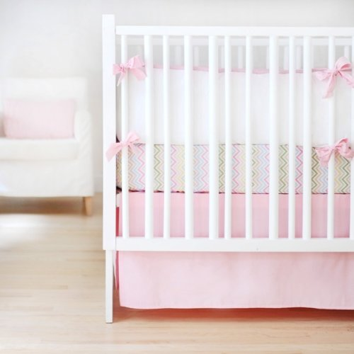 New Arrivals Sweet and Simple Crib Bedding Set, Pink, 3 Piece