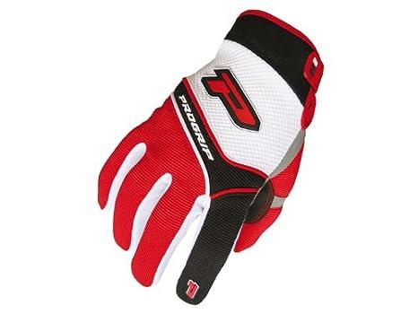 Gants ProGrip MX 4010 blancs-rouges taille L